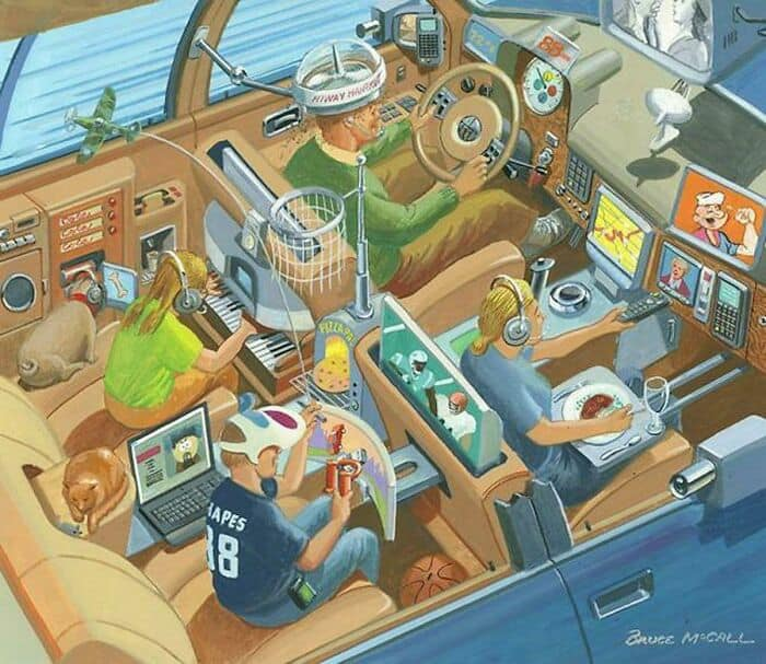 17 framtidens bilresa med familjen