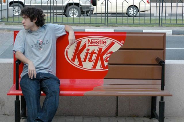 Parkbänk KitKat