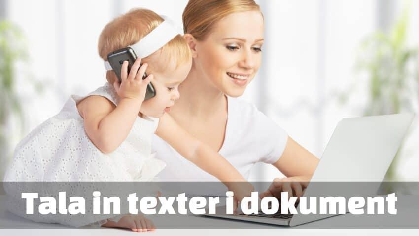Tala in texter