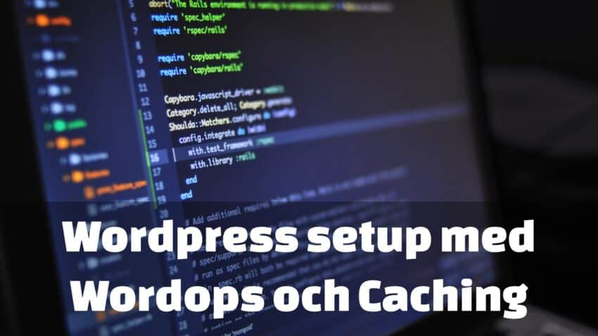 wordpress med caching wordops